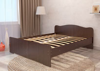 Кровать двуспальная с матрасом  от производителя