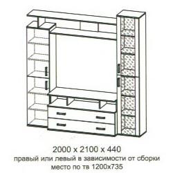 Шкаф от модульной системы