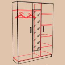 Шкаф 3-х створчатый