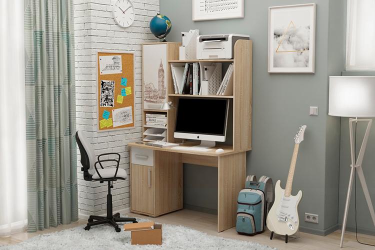 компьютерный стол лайт 1 с надстройкой купить в фм мебель спб цена